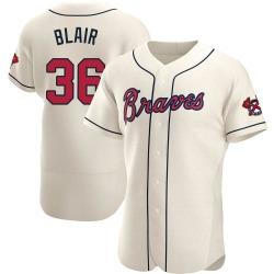 Aaron Blair Atlanta Braves Men's Authentic Alternate Jersey - Cream