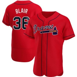 Aaron Blair Atlanta Braves Men's Authentic Alternate Jersey - Red