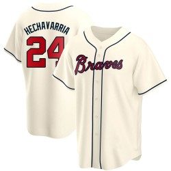 Adeiny Hechavarria Atlanta Braves Youth Replica Alternate Jersey - Cream