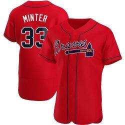 A.J. Minter Atlanta Braves Men's Authentic Alternate Jersey - Red