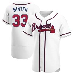 A.J. Minter Atlanta Braves Men's Authentic Home Jersey - White