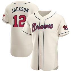 Alex Jackson Atlanta Braves Men's Authentic Alternate Jersey - Cream