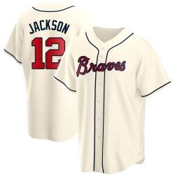 Alex Jackson Atlanta Braves Men's Replica Alternate Jersey - Cream