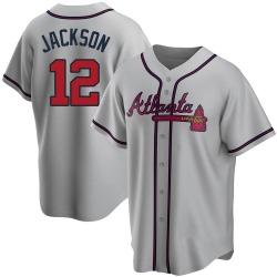 Alex Jackson Atlanta Braves Men's Replica Road Jersey - Gray