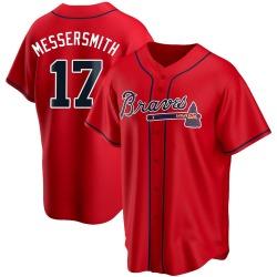 Andy Messersmith Atlanta Braves Men's Replica Alternate Jersey - Red