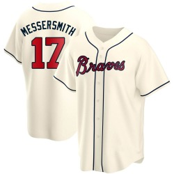 Andy Messersmith Atlanta Braves Youth Replica Alternate Jersey - Cream