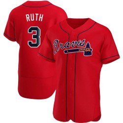 Babe Ruth Atlanta Braves Men's Authentic Alternate Jersey - Red