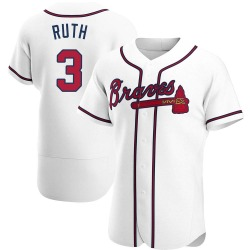 Babe Ruth Atlanta Braves Men's Authentic Home Jersey - White