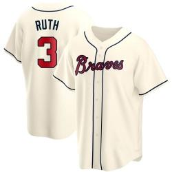Babe Ruth Atlanta Braves Men's Replica Alternate Jersey - Cream