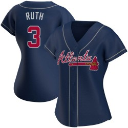 Babe Ruth Atlanta Braves Women's Replica Alternate Jersey - Navy