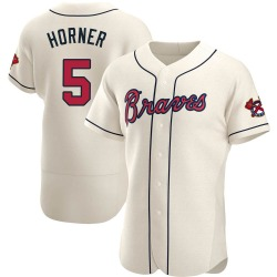 Bob Horner Atlanta Braves Men's Authentic Alternate Jersey - Cream