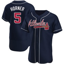 Bob Horner Atlanta Braves Men's Authentic Alternate Jersey - Navy