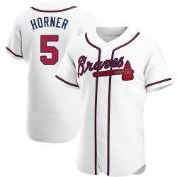 Bob Horner Atlanta Braves Men's Authentic Home Jersey - White