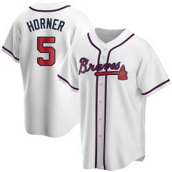 Bob Horner Atlanta Braves Men's Replica Home Jersey - White