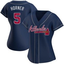 Bob Horner Atlanta Braves Women's Authentic Alternate Jersey - Navy