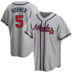 Bob Horner Atlanta Braves Youth Replica Road Jersey - Gray