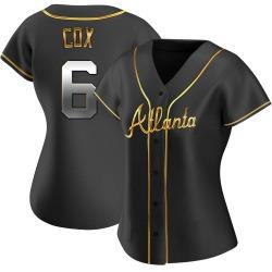 Bobby Cox Atlanta Braves Women's Replica Alternate Jersey - Black Golden