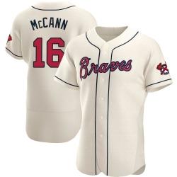 Brian McCann Atlanta Braves Men's Authentic Alternate Jersey - Cream