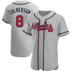 Charlie Culberson Atlanta Braves Men's Authentic Road Jersey - Gray