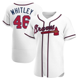 Chase Whitley Atlanta Braves Men's Authentic Home Jersey - White