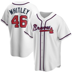 Chase Whitley Atlanta Braves Men's Replica Home Jersey - White