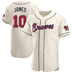 Chipper Jones Atlanta Braves Men's Authentic Alternate Jersey - Cream