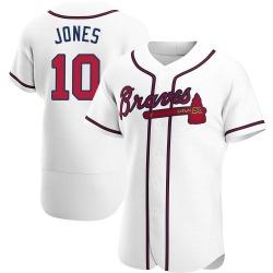 Chipper Jones Atlanta Braves Men's Authentic Home Jersey - White