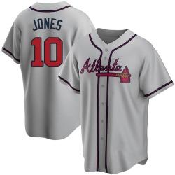 Chipper Jones Atlanta Braves Men's Replica Road Jersey - Gray