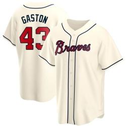 Cito Gaston Atlanta Braves Men's Replica Alternate Jersey - Cream