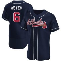 Clete Boyer Atlanta Braves Men's Authentic Alternate Jersey - Navy