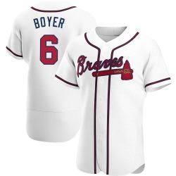 Clete Boyer Atlanta Braves Men's Authentic Home Jersey - White