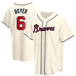 Clete Boyer Atlanta Braves Men's Replica Alternate Jersey - Cream