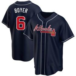 Clete Boyer Atlanta Braves Men's Replica Alternate Jersey - Navy