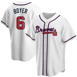 Clete Boyer Atlanta Braves Men's Replica Home Jersey - White