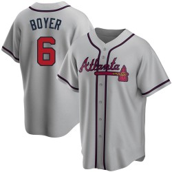 Clete Boyer Atlanta Braves Men's Replica Road Jersey - Gray