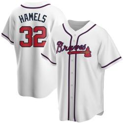 Cole Hamels Atlanta Braves Men's Replica Home Jersey - White