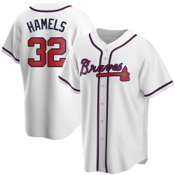 Cole Hamels Atlanta Braves Youth Replica Home Jersey - White