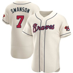 Dansby Swanson Atlanta Braves Men's Authentic Alternate Jersey - Cream