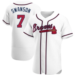 Dansby Swanson Atlanta Braves Men's Authentic Home Jersey - White
