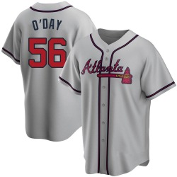 Darren O'Day Atlanta Braves Men's Replica Road Jersey - Gray