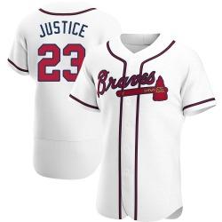David Justice Atlanta Braves Men's Authentic Home Jersey - White