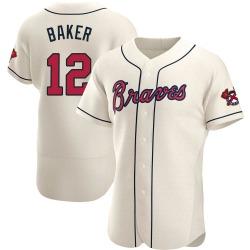 Dusty Baker Atlanta Braves Men's Authentic Alternate Jersey - Cream