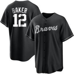 Dusty Baker Atlanta Braves Men's Replica Black/ Jersey - White