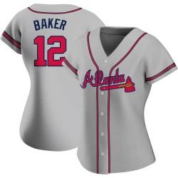Dusty Baker Atlanta Braves Women's Authentic Road Jersey - Gray