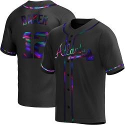 Dusty Baker Atlanta Braves Youth Replica Alternate Jersey - Black Holographic
