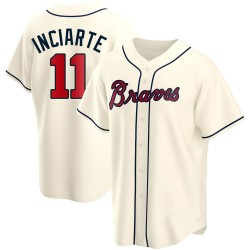 Ender Inciarte Atlanta Braves Men's Replica Alternate Jersey - Cream