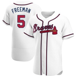 Freddie Freeman Atlanta Braves Men's Authentic Home Jersey - White