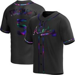 Freddie Freeman Atlanta Braves Youth Replica Alternate Jersey - Black Holographic