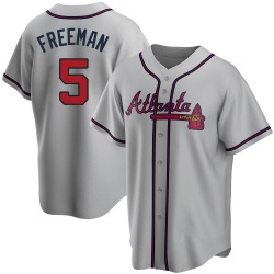 Freddie Freeman Atlanta Braves Youth Replica Road Jersey - Gray