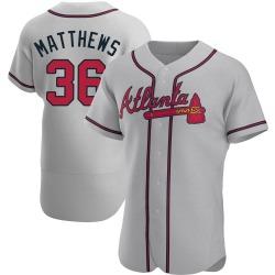 Gary Matthews Atlanta Braves Men's Authentic Road Jersey - Gray